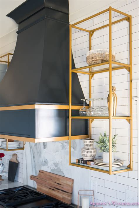 Black And White Tile Ideas For Bathrooms - kitchen white marble calcutta gold open shelves gold black vent hood blue gray cabinets shaker