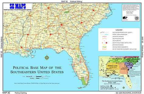 southern map of usa southern us map with cities cdoovision