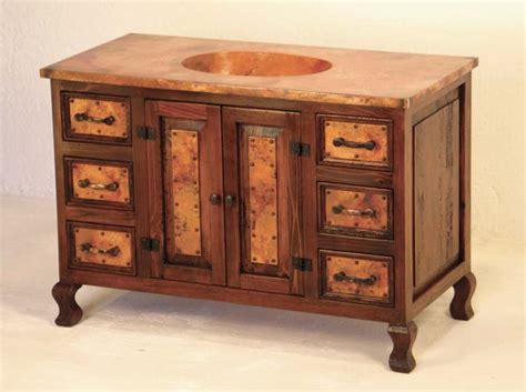 western style bathroom vanities western bathroom vanity cobre sink chest western bath