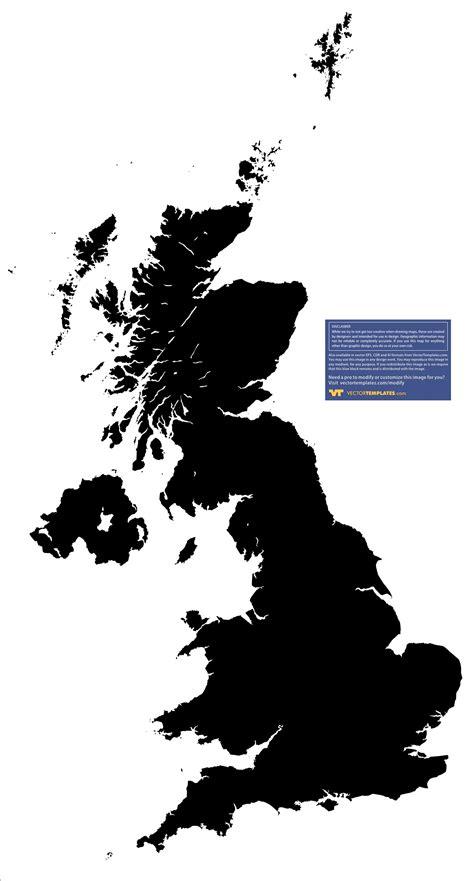 map uk vector uk map detailed map