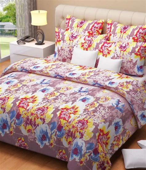 Floral Print Bed Sheet aarya home beautiful floral print cotton bed sheet buy