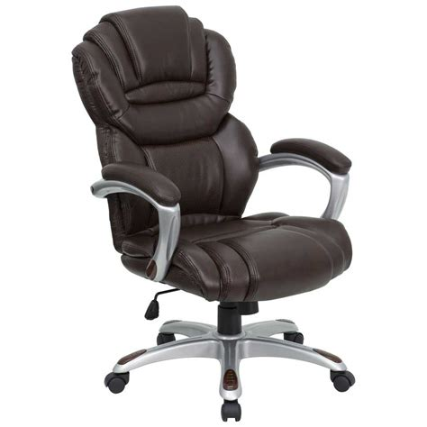brown leather executive desk chair leather desk chairs for office and home