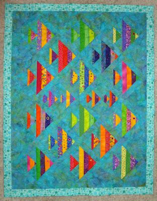 Patchwork Fish Pattern - wayne s 1 fish 2 fish quilt quilts from cozy quilt