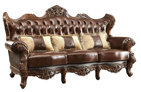 leather sofa with wood trim jericho wood trim leather sofa cm6786 sf