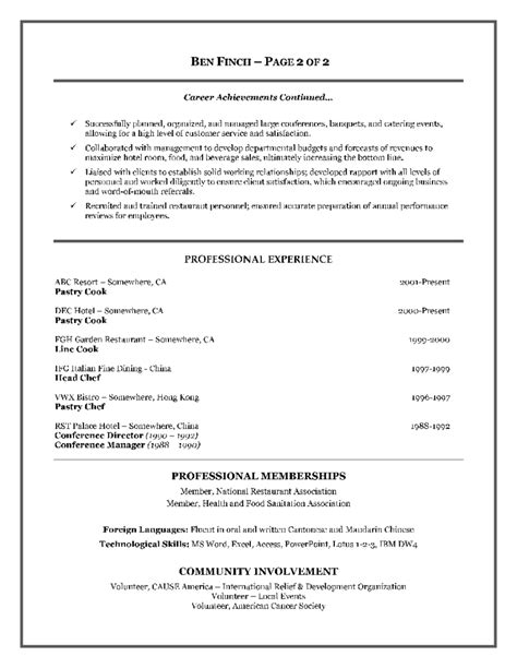 resume format in canada exles of resumes sle resume profile statement