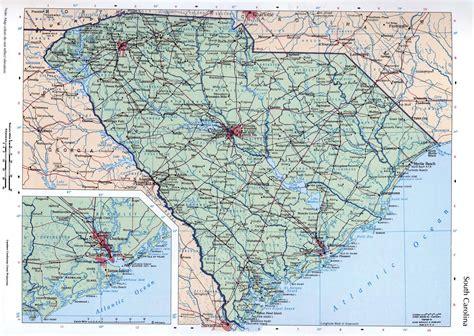 usa map carolina large map of the state of south carolina with cities