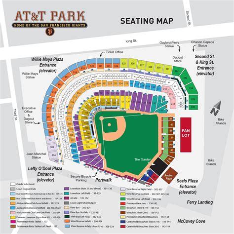 at t park seating map att park seating chart at t park san francisco tickets