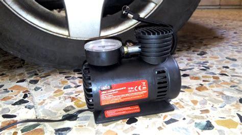 lacarla pompa celup mini 12v prova mini compressore 12v pompa portatile auto moto