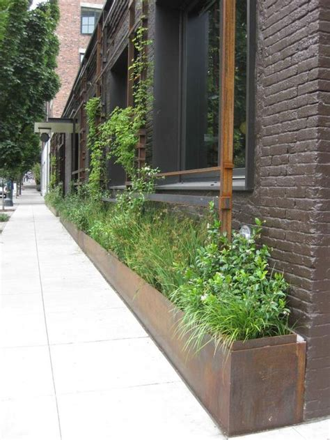 Corten Planter Boxes by Steel Planter Retaining Wall System Garden Planters Corten Steel Planters And