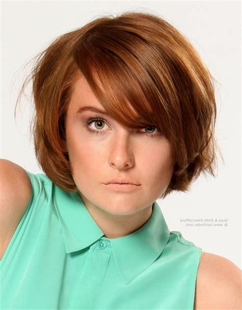 short to medium hairstyles with layers around the face simple short layered bob hairstyles with bangs 30