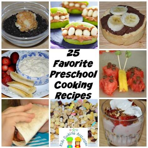cooking crafts for preschool snack recipes