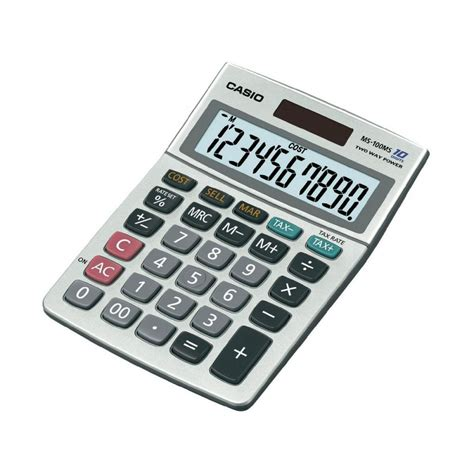 calculatrice de bureau calculatrice de bureau casio ms 100 ms fournitures