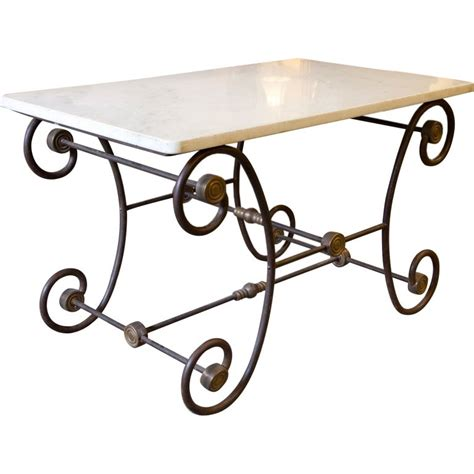 pastry table white marble top at 1stdibs