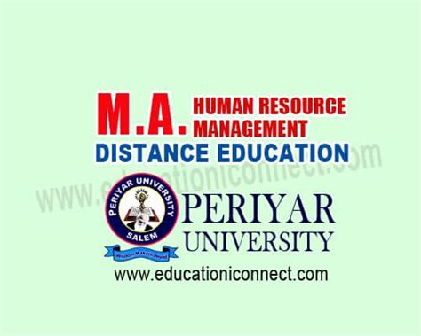Ma Hrm Vs Mba by Ma Human Resource Management Education I Connect