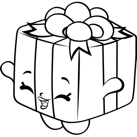 coloring pages of baby shopkins shopkins present toy free coloring page kids shopkins