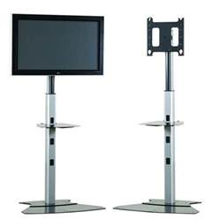 Desk With Keyboard Tray Height Adjustable Tv Stand For 30 Quot To 55 Quot Flat Panel