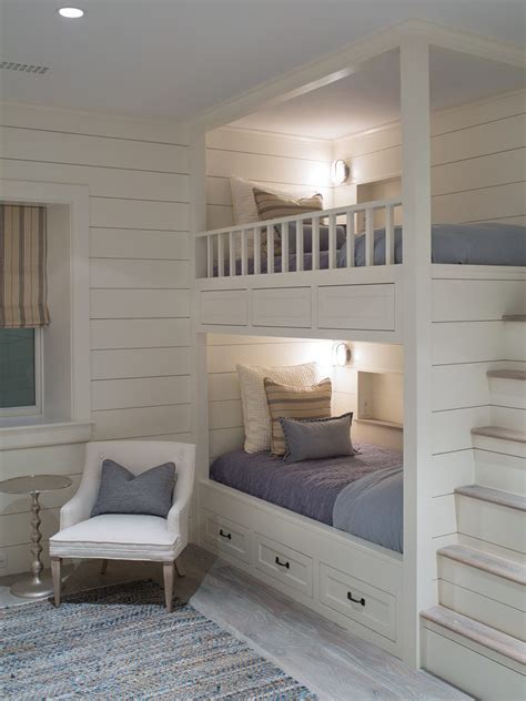 Built In Bunk Bed Ideas Built In Bunk Bed Ideas Style With Nautical Wall Sconces Nautical Wall Sconces Loft Bed