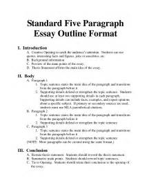 Five Paragraph Essay Outline Exle by Psychology Essay Layout