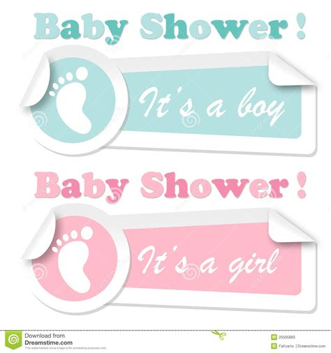 baby shower stickers stock photos image 25505883