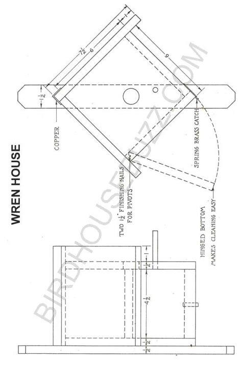 Free Plans For A Wren Bird House House Wren Birdhouse Plans