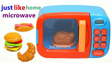 just like home microwave oven play kitchen microondas