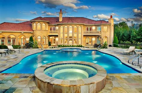 Backyard Pools And Spas Tillsonburg Amazing Mansions With Pools In Luxury Looks Fascinating