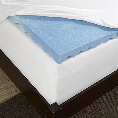 Memory Foam Mattress Toppers That Keep You Cool by Sleep Innovations Gel Memory Foam Mattress Topper With Air