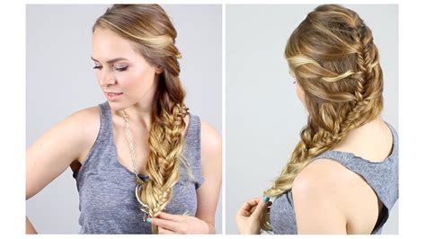 hairstyles kayley melissa how to easy mermaid fishtail braid youtube
