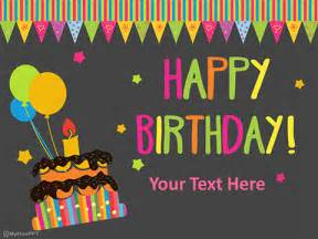 Happy Birthday Powerpoint Templates by Free Happy Birthday Powerpoint Template Free Ppt