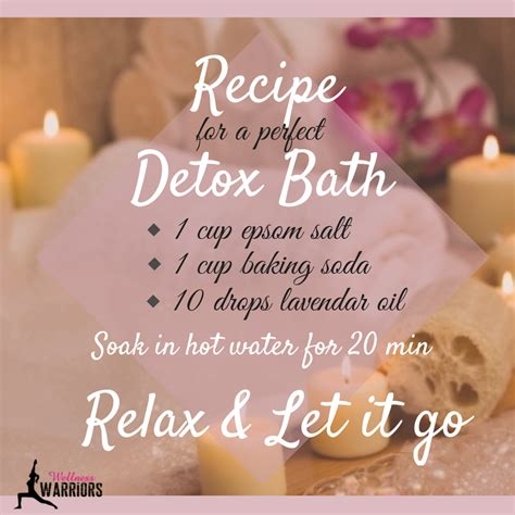 Helping Someone Detox From At Home by Detox Bath Recipe Live Fitness