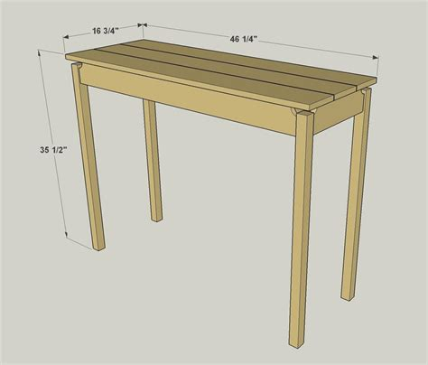 Floating Console Table Floating Top Console Table Buildsomething