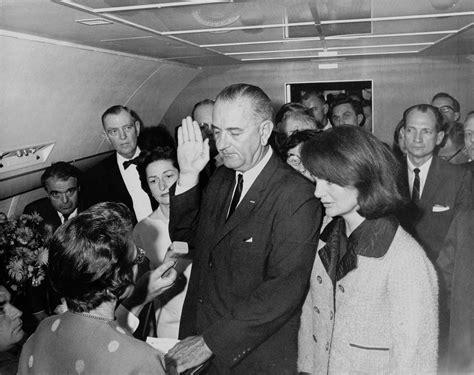 President Oath Of Office by File Lyndon B Johnson Taking The Oath Of Office November