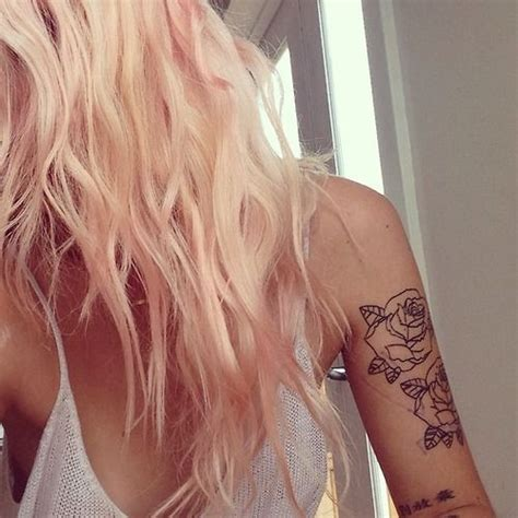 blonde with tattoos best 25 hair ideas on hair dye