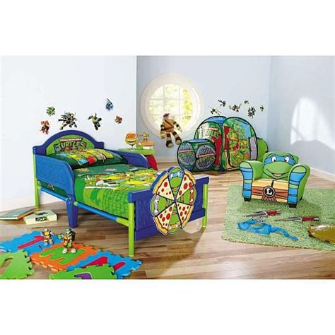 ninja turtle beds teenage mutant ninja turtles 4 piece toddler bedding set