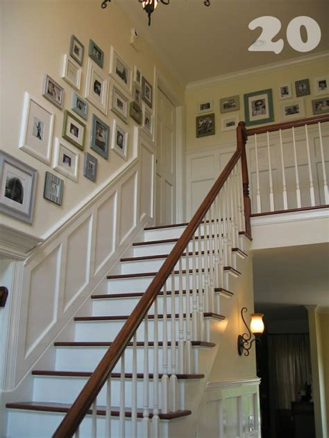 stair chair rail diy photo wall collages endless inspiration picklee