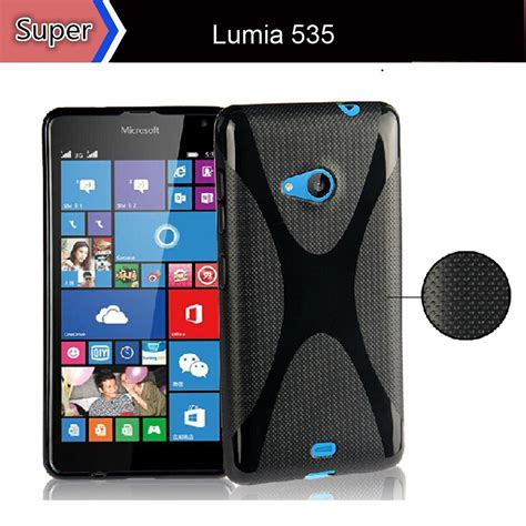 Nokia Microsoft 1090 lumia 535 clear silicon gel soft back cover for microsoft 1090 for nokia lumia 535