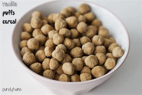 Baby Booster Mix Rice vanilla puffs cereal recipe