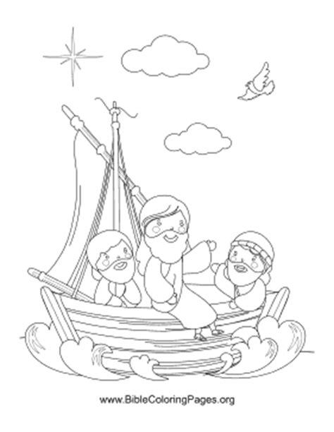 coloring pages jesus in the boat jesus in boat coloring page