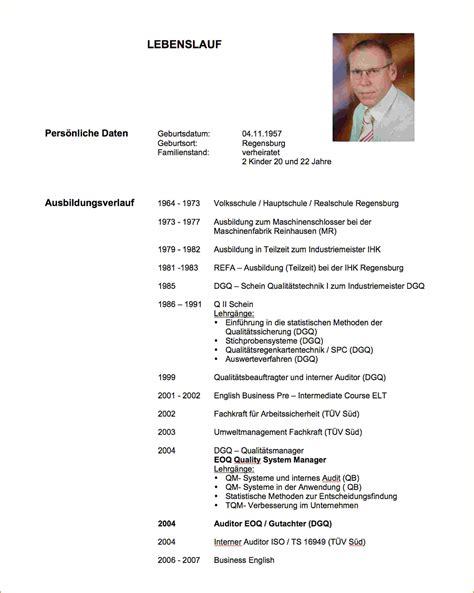 Schüler Lebenslauf by 10 Tabellarischer Lebenslauf Sch 195 188 Ler Muster
