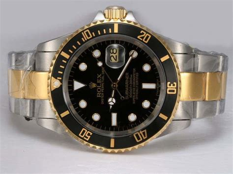 Rolex Submariner Automatic 2 copy rolex submariner automatic two tone with black and bezel 1058 193 00