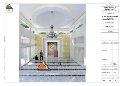 aqis studio jasa desain rumah  jasa arsitek  desain masjid berkubah grc