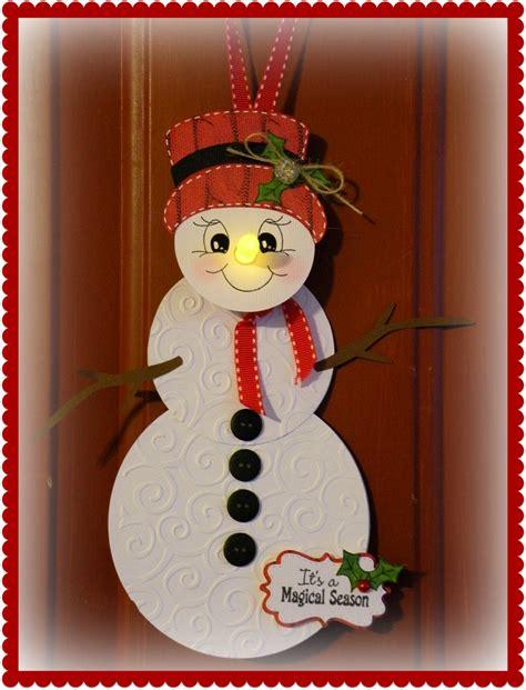 tea light snowman door hanging christmas crafts
