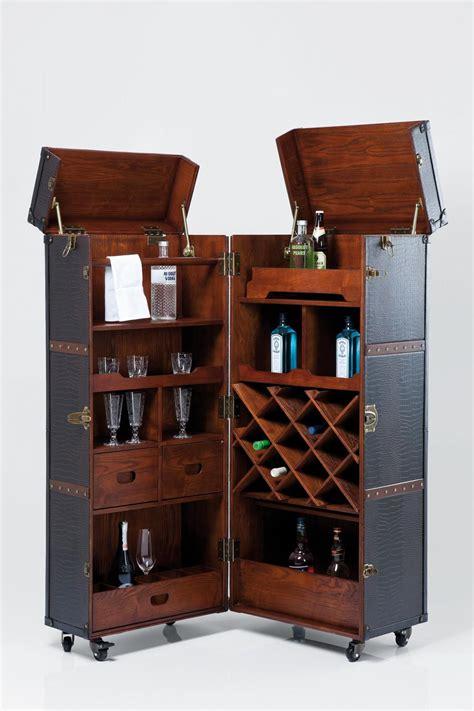 pc schrank abschließbar schrank bar colonial braun barkoffer by kare design