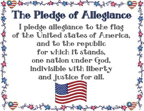 printable lyrics to the pledge of allegiance mrs solis s teaching treasures july 2014