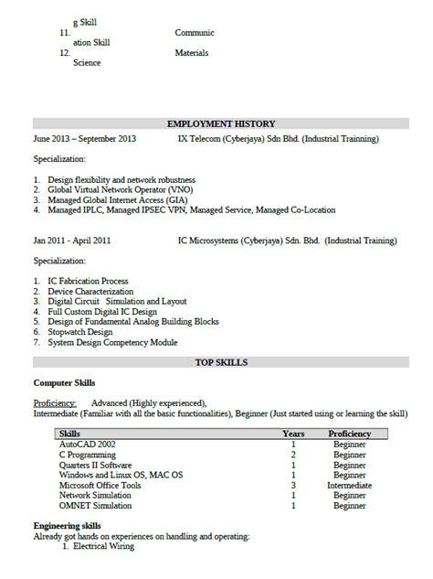 Format Resume Yang Ringkas Contoh Resume Kerja Terbaik Lengkap Terkini