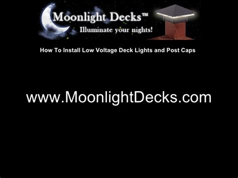 how to put in low lights how to install low voltage deck lights wiring the transformer