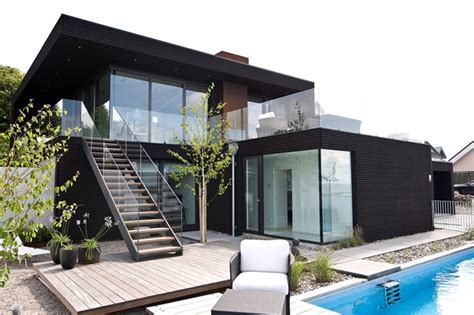 contemporary beach house interiors nilsson villa modern beach house with black and white interior design in sweden