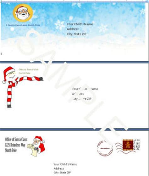 santa envelope template complete santa letter template package santa letter