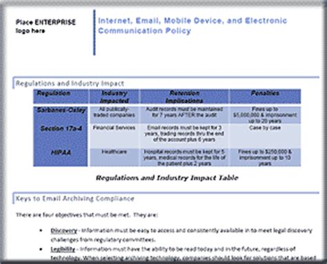email retention policy template cio it infrastructure policy and procedures bundle