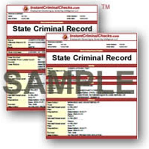State Of Criminal Record Check View All Criminal Background Check Sle Reports